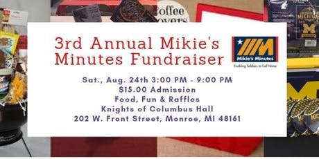 Mikie's Minute's Fundraiser with LIVE Chain Saw Carving tickets