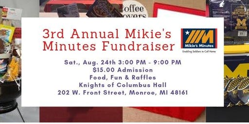 4 Days til' Mikie's Minutes Fundraiser w/LIVE Chain Saw Carving