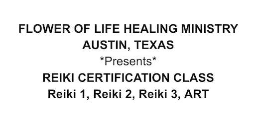 REIKI CERTIFICATION CLASS Reiki 1, Reiki 2, Reiki 3, ART