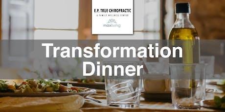 Transformation Dinner with Dr. Kevin Miller & Dr. Christopher Reil -- July tickets