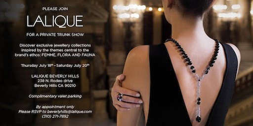 LALIQUE FINE JEWELLERY TRUNK SHOW