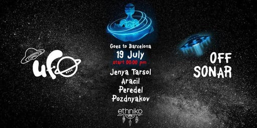 UFO Goes to Barcelona Party Nightclub with Cover Terrace in Barcelona Off Week