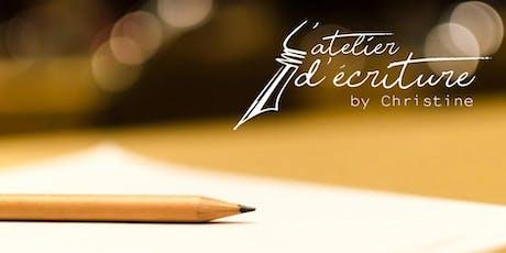 Découvrez l'atelier d'écriture by Christine billets