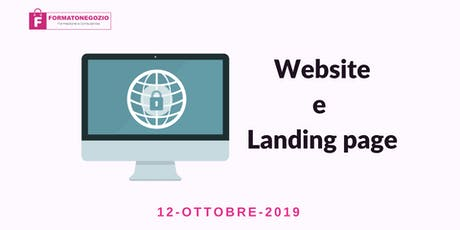 Sito Web e Landing Page - Seminario biglietti