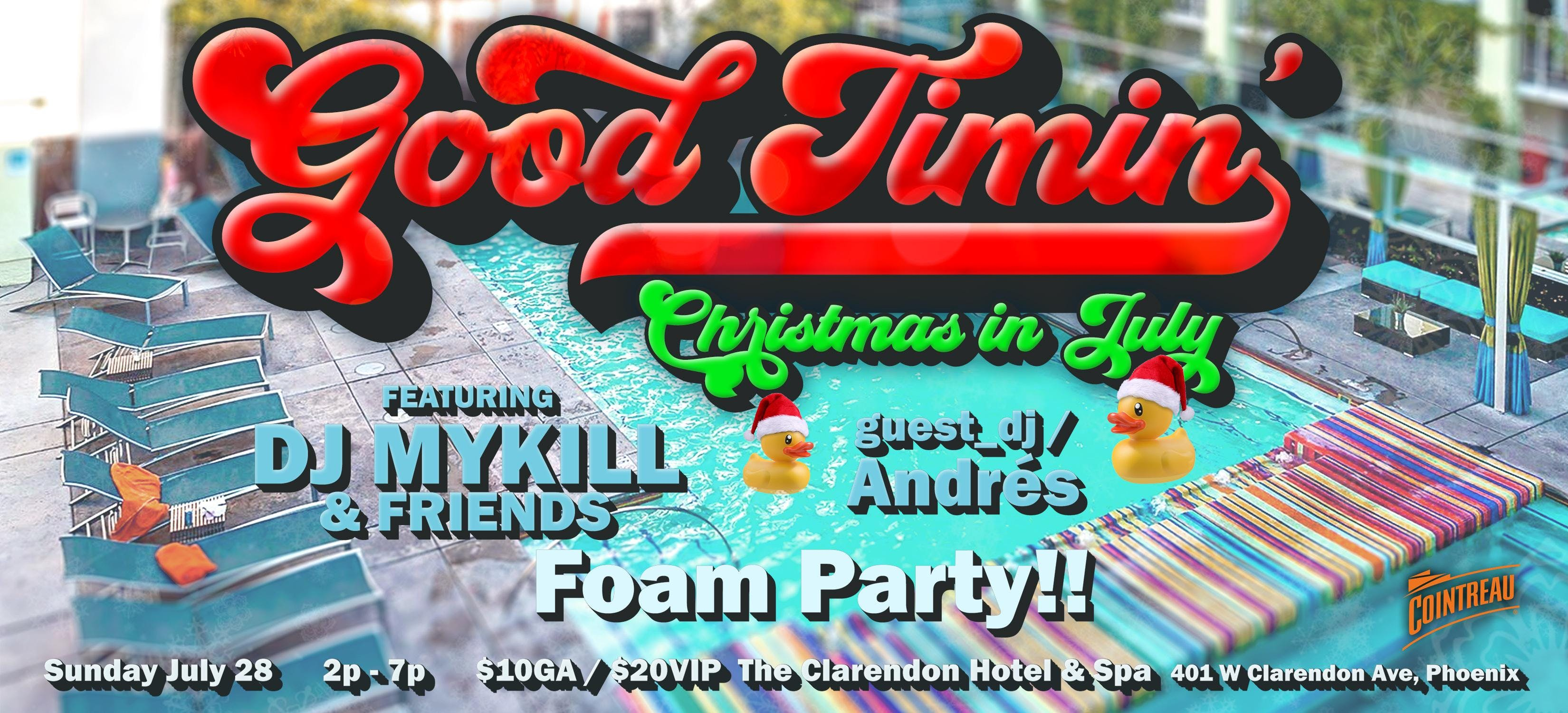 Good Timin' Pool Party-Christmas in July