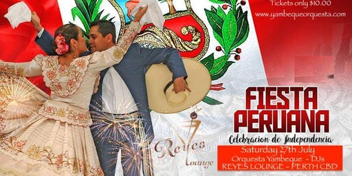 Peruvian Independence Party At Reyes Lounge