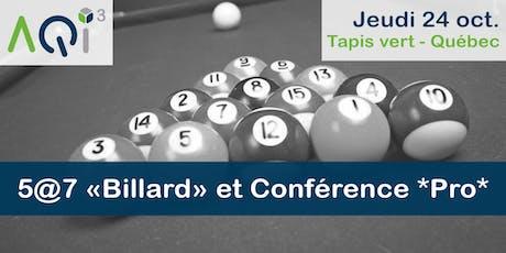 5@7 Billard et Conférence PRO - Québec billets