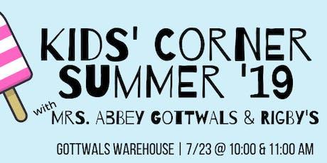 Kids' Corner with Abbey Gottwals & Rigby's tickets
