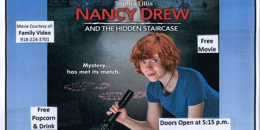 Free Movie Night @ The Library - Nancy Drew and the Hidden Staircase