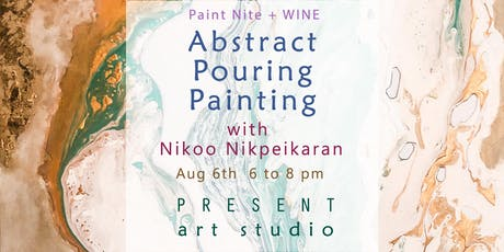 Paint Nite + Wine: Abstract Pouring Painting tickets