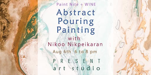 Paint Nite + Wine: Abstract Pouring Painting