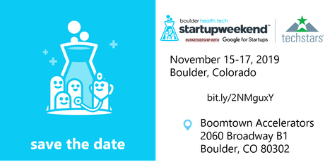 Boulder Health Tech Startup Weekend tickets