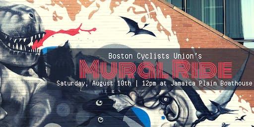 Boston Cyclists Union's Mural Ride