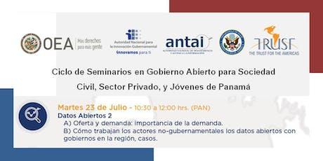 Panamá, SEMINARIO 5: Datos Abiertos 2 tickets