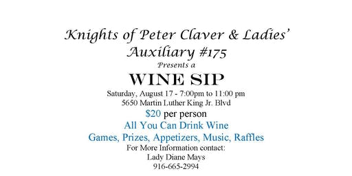 Wine Sip - Knights of Peter Claver and Ladies Auxiliary