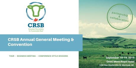 CRSB 2019 Annual General Meeting & Convention billets