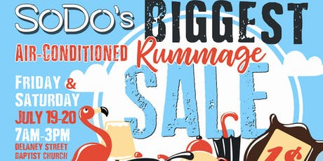 HUGE Air-Conditioned Rummage Sale tickets
