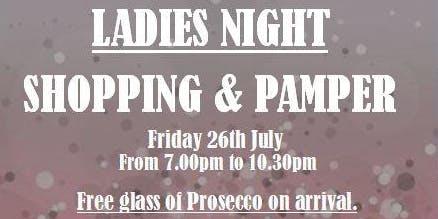 Ladies Shopping & Pamper Night
