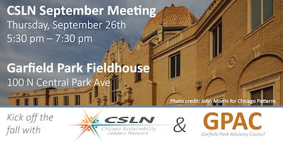 Chicago Sustainability Leaders Network September Meeting