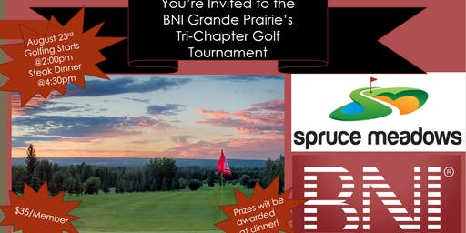 BNI Grande Prairie's Tri-Chapter Golf Tournament