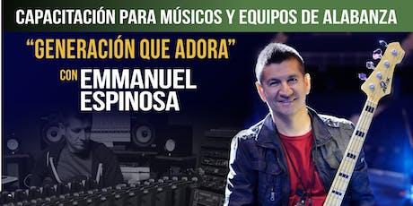 Capacitacion Para Musicos con Emmanuel Espinoza -Gana Una Behringer X32 tickets