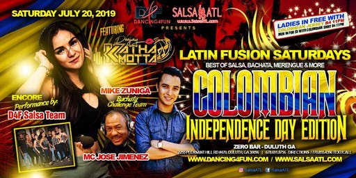 Colombian Independence Day Salsa Party at Zero Bar Sat July 20th