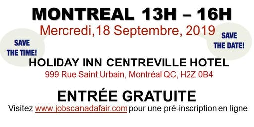 Montreal Job Fair – September 18th, 2019