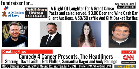 "Comedy 4 Cancer Presents. ""The Headliners"" tickets"