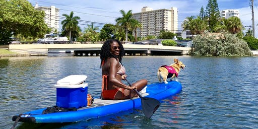 SUP PUP paddle board lesson & Tour