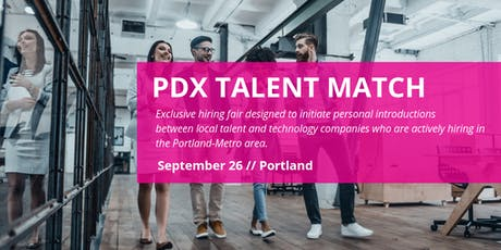 2019 PDX Talent Match: Company Registration tickets
