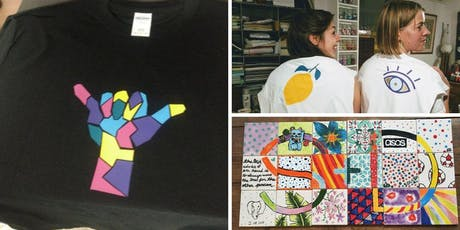 Make your own t-shirts and tiles (with BYOB!) tickets