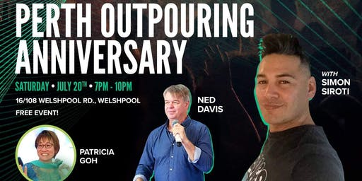 PERTH OUTPOURING Anniversary Celebrations replaces Event by Ben Lim.