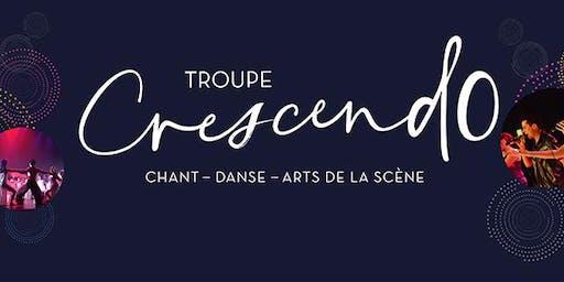 Troupe Crescendo - Période d'inscription chant/danse (jusqu'au 17 sept.)