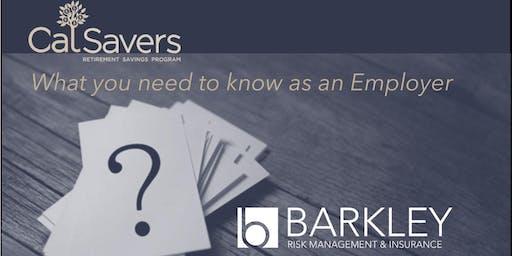 CalSavers for Employers Workshop - OXNARD