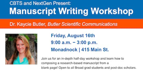 Manuscript Writing Workshop tickets