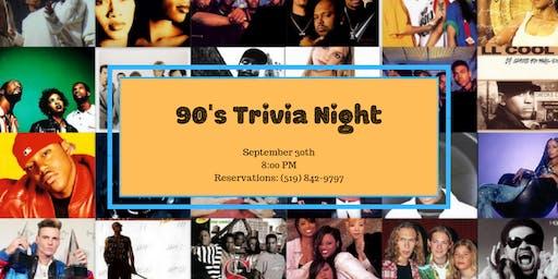 90's Trivia Night - Tillsonburg