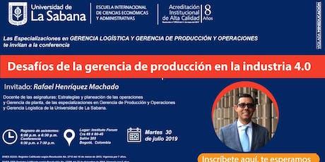 Desafíos de la Gerencia de Producción en la industria 4.0 entradas