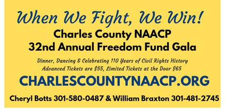 Charles County NAACP 32nd Freedom Fund Gala tickets