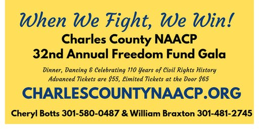 Charles County NAACP 32nd Freedom Fund Gala
