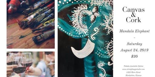 Canvas & Cork | Mandala Elephant