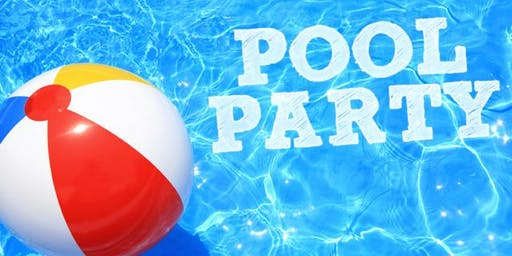 Adult Group Pool Party