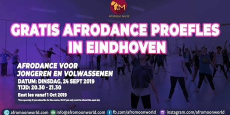 Free opendays Afrodance class in Eindhoven September tickets
