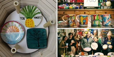 Make your own painted ceramics  (with BYOB!)