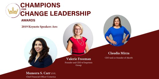 The 2019 Champions for Change Leadership Awards  Dinner (CFCLA) #2019CFCLA