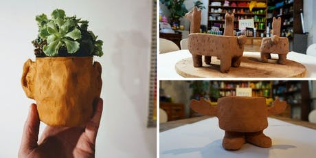 Handmade pottery - Make your own terracotta planters (1 Part session)  tickets