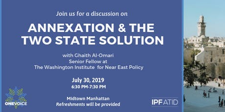 Annexation & The Two-State Solution tickets