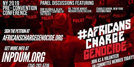 Africans Charge Genocide: Pre-Convention Conference tickets