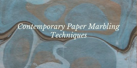 Contemporary Paper Marbling Techniques  tickets