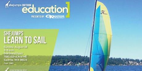 WA SheJumps Learn to Sail tickets