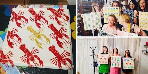 Make your own printed tote or tea towel